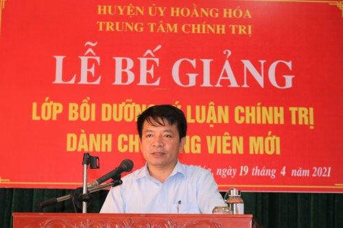 2. đồng chí Lê Anh Tuấn- Thường vụ huyện ủy- Trưởng ban Tuyên giáo- GĐTTBDT huyện  phát biểu đánh giá  quá trình học tập, giảng dậy của lớp.jpg