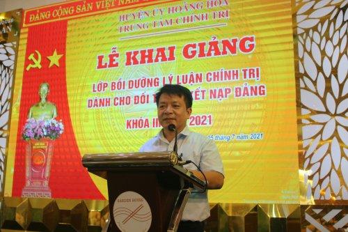 1. Đc Lê Anh Tuấn-TVHU-Trưởng Ban TG - GĐ Trung tâm chính trị huyện phát biểu khai mạc lớp học.jpg